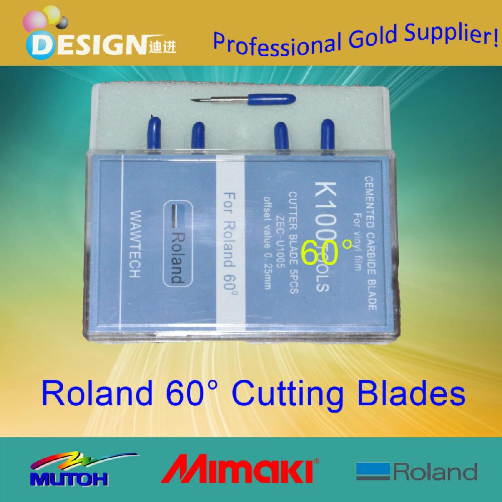 Vinyl cutting plotter 30pcs/lot roland 60 degree cutter blade(China (Mainland))