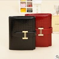 2014 Fashion Brand New Genuine Leather Short Design Women Wallet Cowhide Purse Bank Card Bag