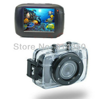 Wholesale Free Shipping 2013 New HD 720P Waterproof Sport DVR Camera with 20 meter Water Resistant Case Portable Video recorder