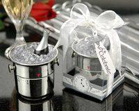 20PCS/LOT It's About Time! Let's Celebrate Champagne Bucket Timer +wedding bridal shower favor