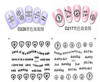 Nail art sticker watermark applique nail art accessories watermark finger water transfer sticker applique d series