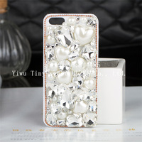 Handmade (Crystal Pearls) case for iphone5 5s case phone bag protective sleeve shell phone shell diamond