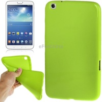 Green Pure Color Brand New Smooth Surface TPU Case For Samsung Galaxy Tab 3 (8.0) / T311 / T310