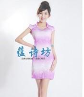 2013 summer fashion neck ol gentlewomen gradient color vintage short qipao
