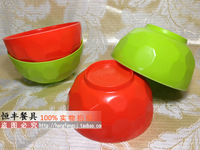 Multicolour melamine bowl plastic soup bowl noodle bowl melamine tableware multicolour ball cup ravingly circle thread bowl