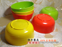 Multicolour bowl plastic bowl soup bowl noodle bowl melamine bowl melamine tableware child bowl white and green bowl threaded
