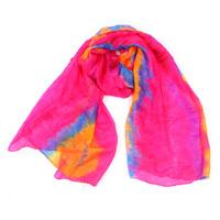 High Quality Newest Ladies Tie-dyed Patchwork Gradual Silk Scarf/ Shawl, Women Fashion Oblong Scarf TS-3-20