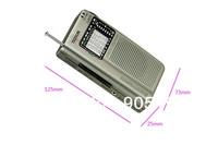 free shipping high quality handy FM/MW/SW TECSUN R-908 World Band Portable Radio