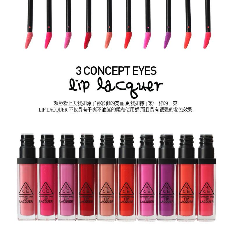 3ce chiqueiro nda lábio laca pintura gloss seca(China (Mainland))