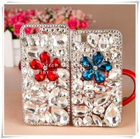 Handmade (Colored gemstones flower)case for iphone5 5s case phone bag protective sleeve shell phone shell diamond