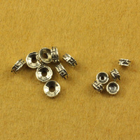 925 pure silver jewelry vintage thai silver accessories diy small septate every bead 5mm 7mm bracelets SMA73