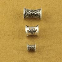 Vintage thai silver accessories diy 925 pure silver jewelry mark race plumbing trap 6mm bracelets bracelet SMA48