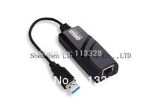 USB3.0 Giga Lan Card Network Card 1000Mbps USB3.0 Retail Box High Quality Black Color Support Windows8