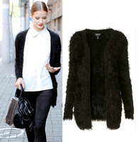 2014 New Fashion Women Autumn Long Sleeve V Neck Casual Solid Color Thick Cotton Sweater Cardigans in Stock