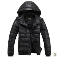 Free shipping New 2013 Sport Suit Men  Parka Warm Jackets White Duck Down Coat Thick Down Jacket Warm Jackets Zipper Cotton