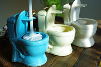 Personalized ceramic toilet brush set toilet brush rack
