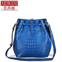 New 2013 women's handbag cowhide bucket bag shoulder cross-body bag female casual totes