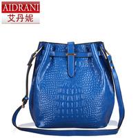 New 2014 women's handbag cowhide bucket bag shoulder bags famous brand designer women messenger bag female casual totes handbags