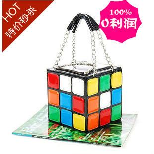 2013 Hotsale 1pcs/Lot Women's Hot Cute Magic Cube Bag Purse Korean Fashion Handbags Wholesale And Dropship
