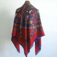 2013 News Women's Fashion Vintage Fancy Print Winter Square Scarves Big Size Shawls Wraps,130*130cm,M-S0086,Free Shipping