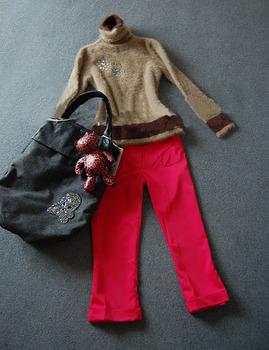 Diamond mink turtleneck sweater basic shirt women's sweet sweater outerwear customize free collar