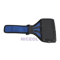 NI5L Sport Armband Case Mesh Running Arm Band for Samsung Galaxy I9500 S4 Blue