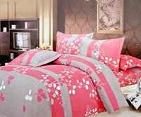 100% piece cotton bedding set rustic 100% cotton princess duvet cover bed sheets wedding bedding
