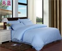 White piece bedding set 100% cotton satin