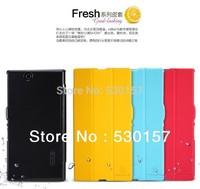 Nillkin Brand Fresh Series pu Leather Slim Case For Sony Xperia Z Ultra / ZU XL39h Folio Folding Cover, Freeshipping
