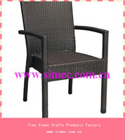 SGS HDPE rattan wicker outdoor stacking chair SCRC-003