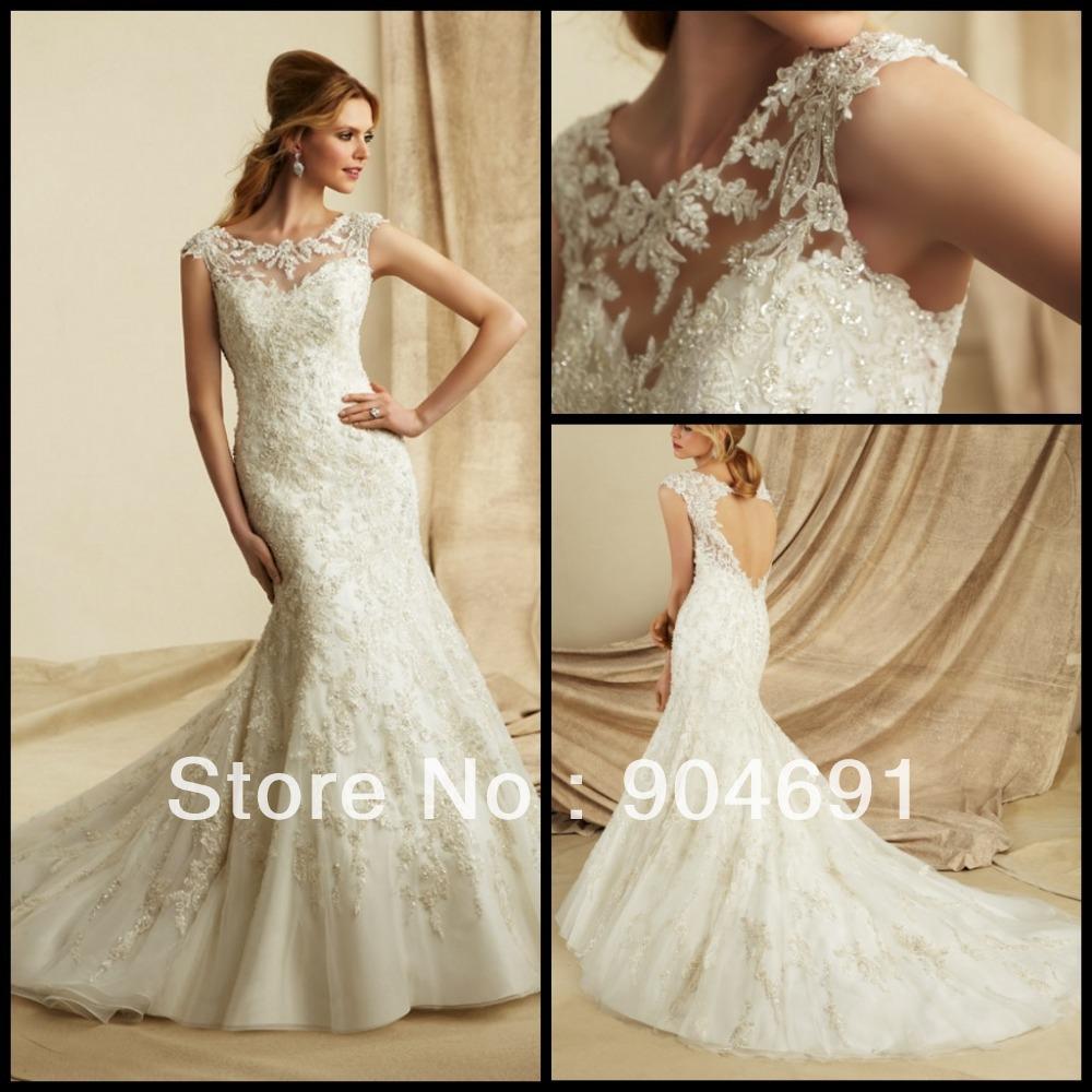 Boat Wedding Luxury Lace Wedding Dress Boat