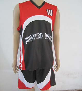 Free shipping (5 sets or more) 100% Polyester blank basketball jersey