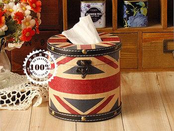 Fashion flag torx wool roll paper towel tube vintage fashion tissue box web box
