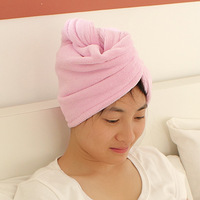 Solid color towel dry hair super absorbent dry hair hat plus size thickening quick-drying shower cap 36006