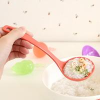 Candy color melamine porcelain curviplanar soup ladle spoon t. spoon 35793