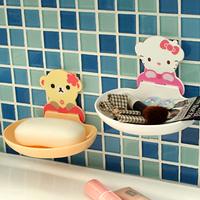 Suction cup shelf bathroom shelf storage rack water soap box 33903