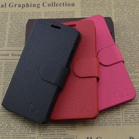 Free Shipping (5pcs/lot) Top Quality Series leather case for Lenovo A308T cell phone Classic design