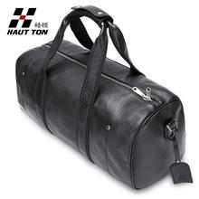 Hautton man bag genuine leather travel bag large capacity luggage cross-body(China (Mainland))