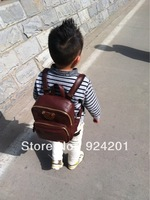 Free shipping HOT SALE ECO-FRIENDLY PU School bag Children backpacks  Korea fashion style kids Boys baby bags,free shipping