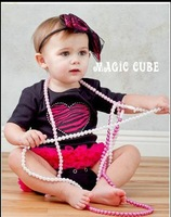 Lovely style Black heart shape baby romper with lace suitable for Cute children On Selling