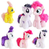 Free shipping 27cm standing height horse plush toys 5colour for birthday party and valentine's day