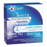 Crest 3D Whitening White 2 Hour Express Whitestrips Teeth Whitening Strips, 4 ct