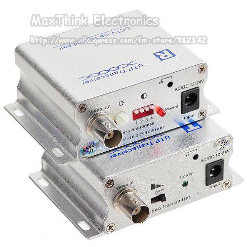 1 CH Video Balun via Twisted Pair UTP Transceiver for CCTV Cameras, BNC, Cat5 UTP 1pair(China (Mainland))