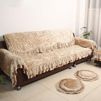 Luxury classical huamei modern fashion sofa cushion lace fabric sofa set quality
