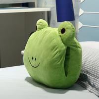 With cartoon animal lion frog pig circleof plush toy hand pillow cushion nap pillow