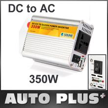350W 350 Watt Portable 220V + USB DC to AC Car Power Inverter Vehicle Auto Power Converter Free Shipping dropshipping Wholesale(China (Mainland))