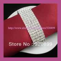 Wholesale!150pcs /lot  Elastic Napkin Ring ,6Rows ,SS16.A quality,use as crystal bracet/souvenir,wedding accessories