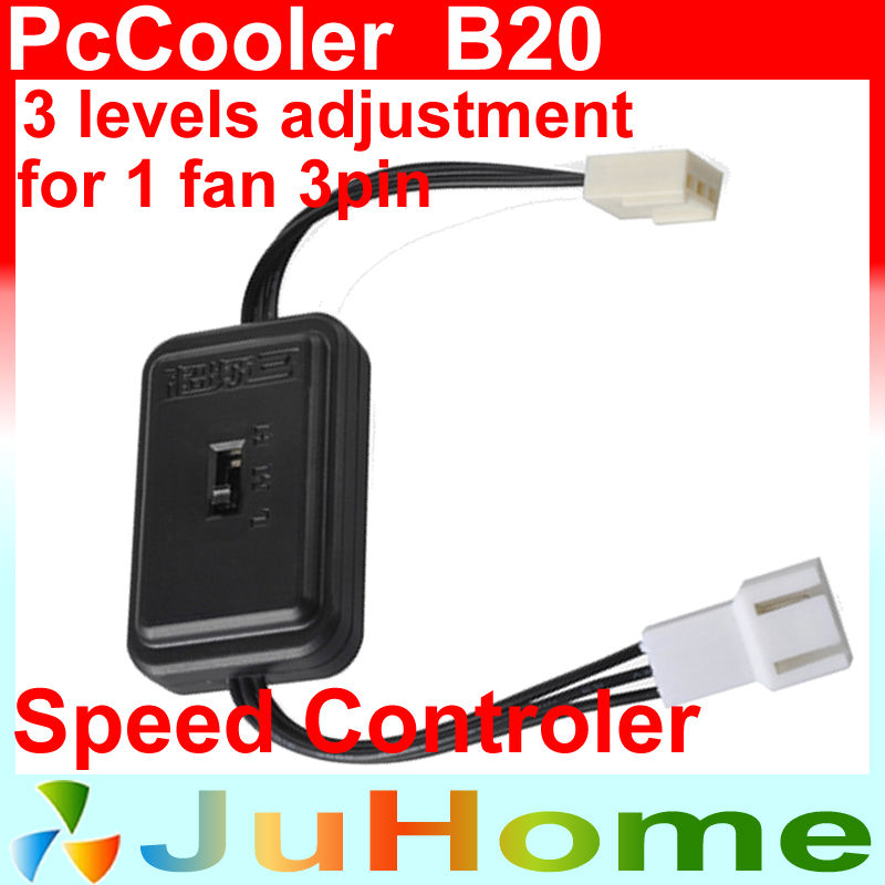 fan Speed controler control, for 3 pin fan, for 1 fans, 3 levels adjustment PcCooler B20(China (Mainland))