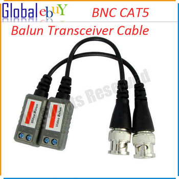 Freeshipping New CCTV Camera BNC CAT5 Video Balun Transceiver Cable