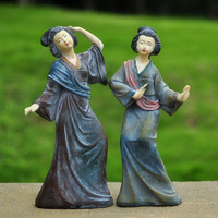 Lady dance decoration classical resin figure sculpture home decoration